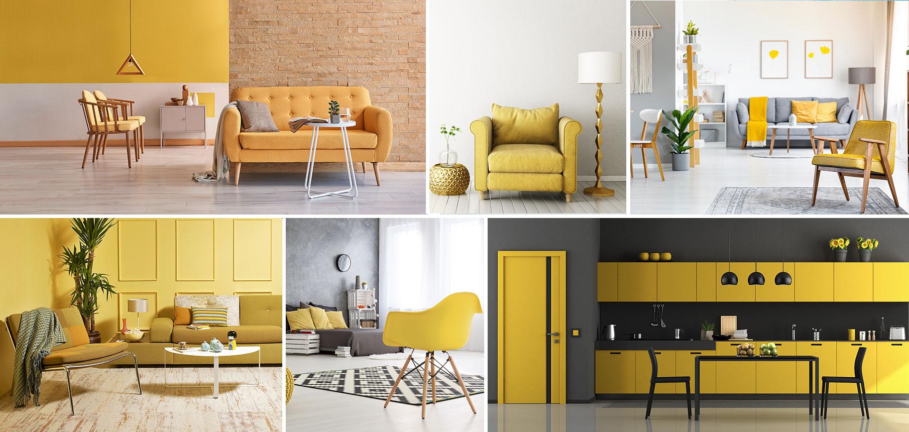 Deco Jaune Et Vert jaune - couleur jaune