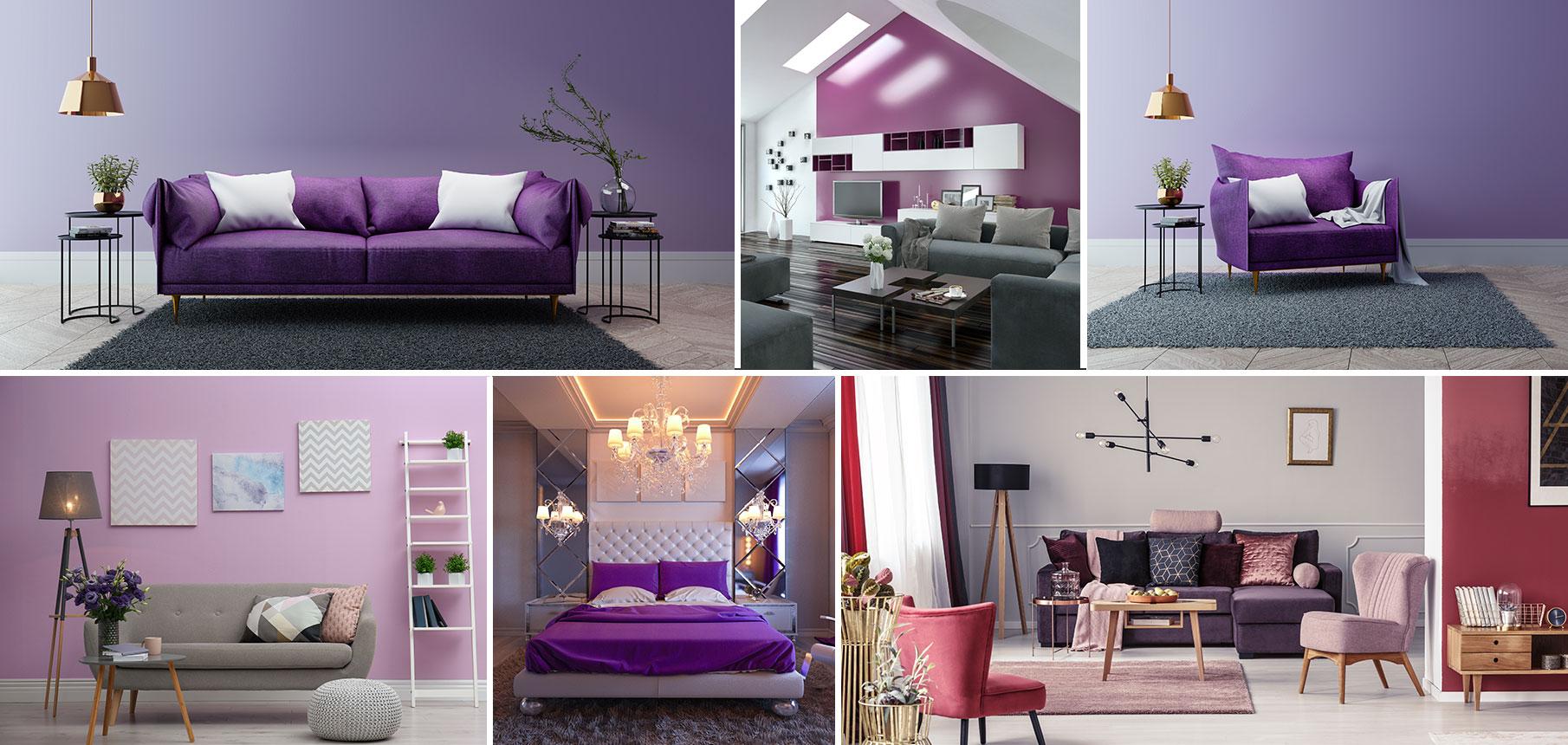 Décoration Mauve Et Gris violet - couleur violette