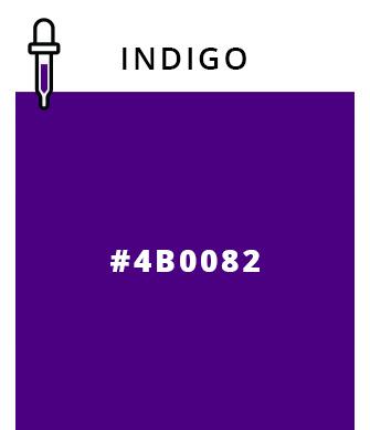 Indigo   #4B0082
