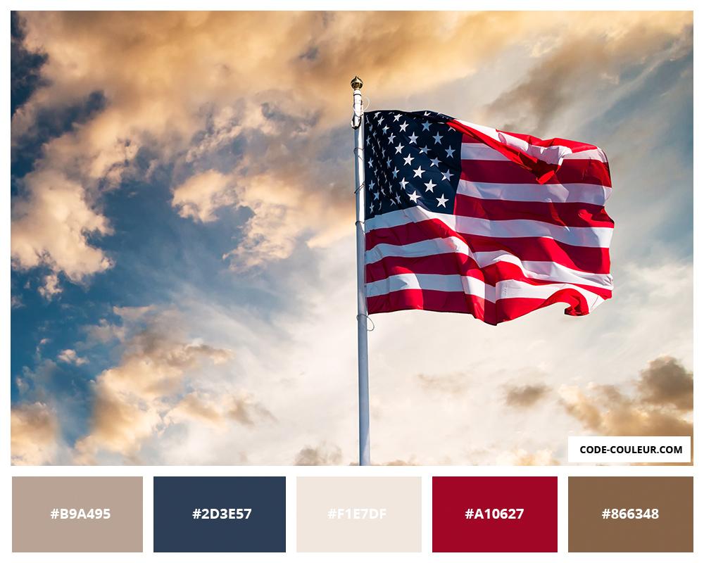 Drapeau Etats Unis Couleurs Du Drapeau Americain